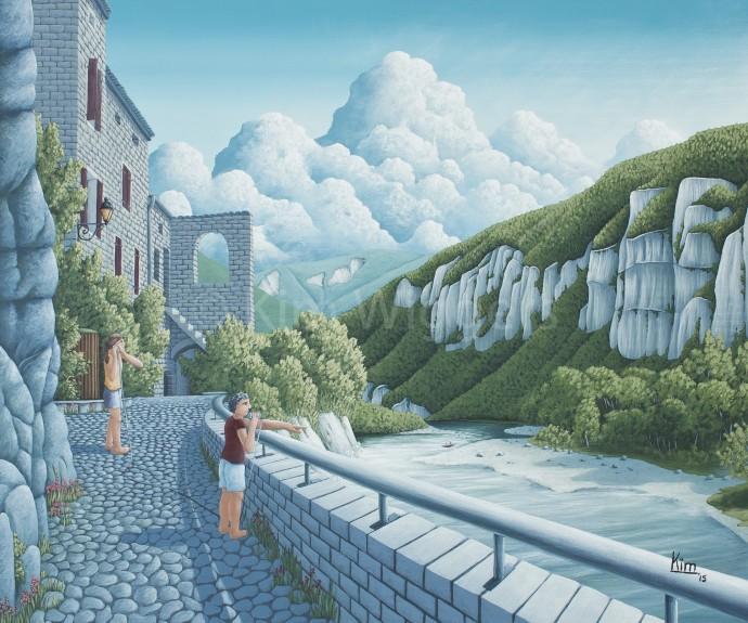 Kim Wiggers surrealistisch surrealism magisch realististisch magic realism acrylverf acrylic schilderij painting Kloof van Begrip