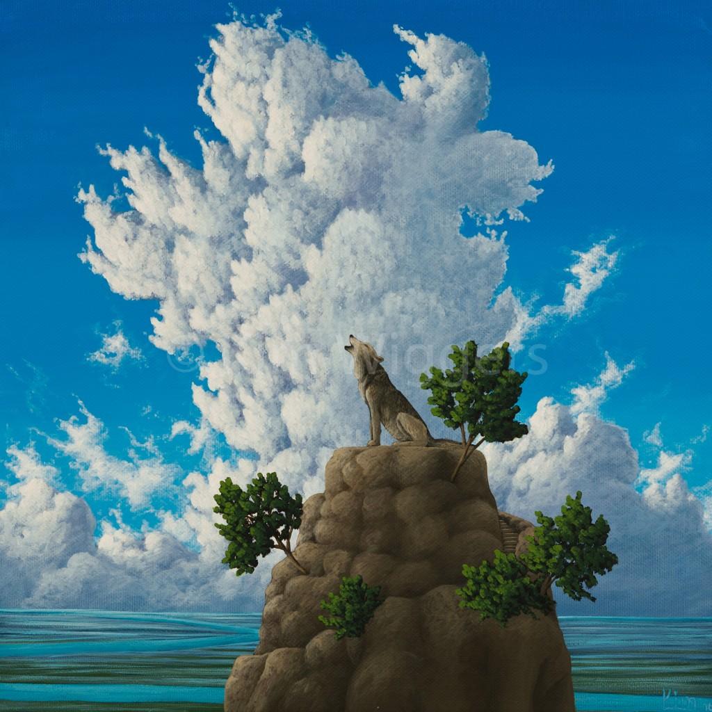 Kim Wiggers surrealistisch surrealism magisch realististisch magic realism acrylverf acrylic schilderij painting Overtuigend