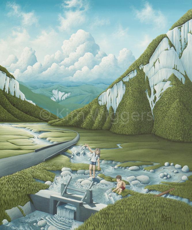 Kim Wiggers surrealistisch surrealism magisch realististisch magic realism acrylverf acrylic schilderij painting Stroming