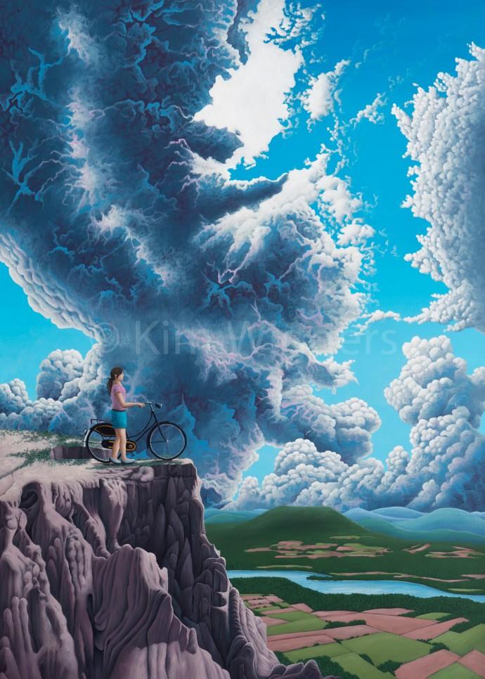 Kim Wiggers surrealistisch surrealism magisch realististisch magic realism acrylverf acrylic schilderij painting Ver Verlangen