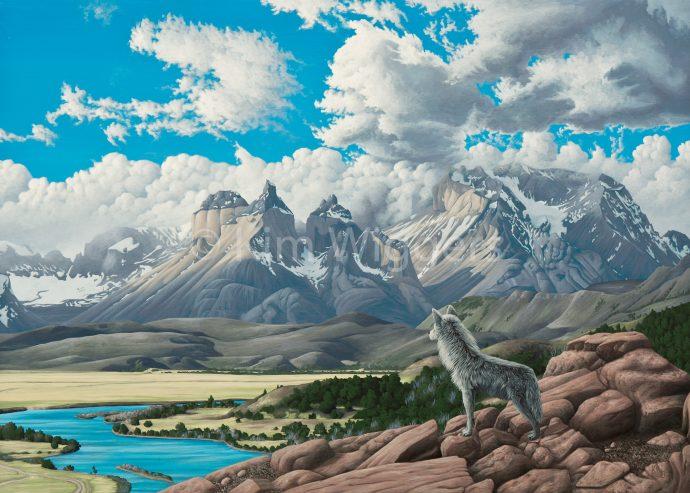 Kim Wiggers surrealistisch surrealism magisch realististisch magic realism acrylverf acrylic schilderij painting Instinct