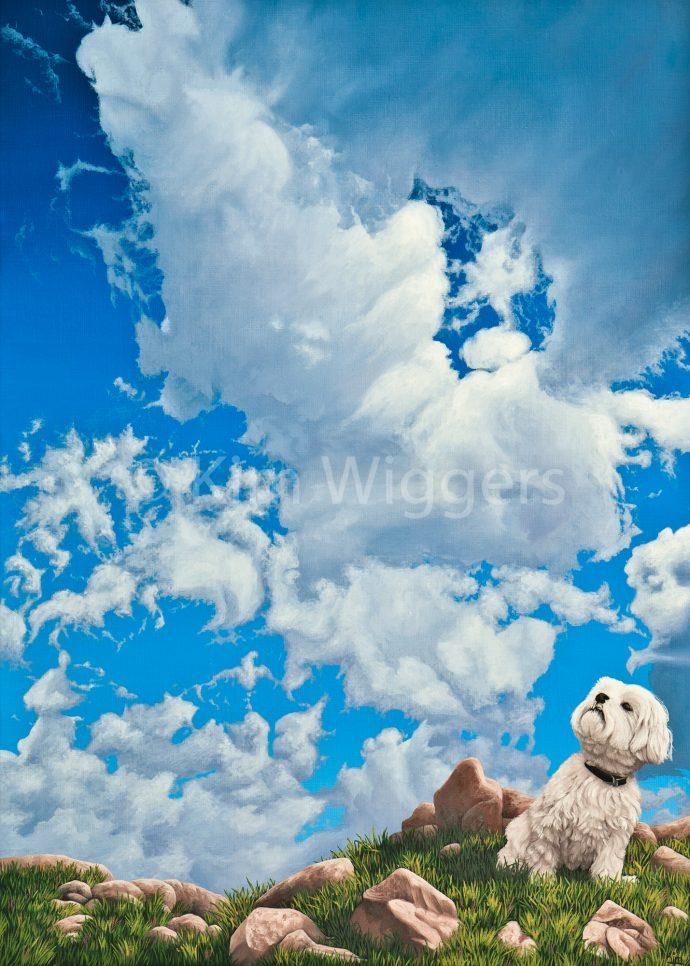 Kim Wiggers surrealistisch surrealism magisch realististisch magic realism olieverf oil painting schilderij painting Gerichte Blik